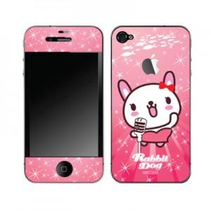 스킨플레이어 iPhone 4G 자아도취 래빗독 디자인 스킨