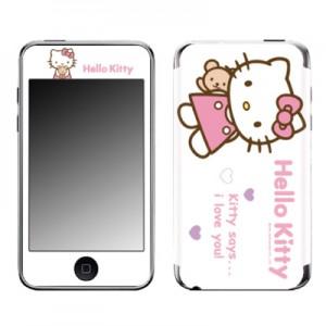 스킨플레이어 iPod Touch 2G-3G 헬로키티 B 화이트 디자인 스킨
