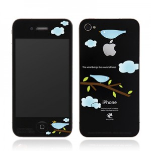 스킨플레이어 iPhone 4G 맥스킨 짹짹이 디자인 필름