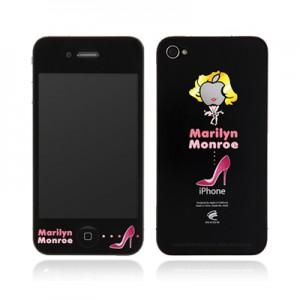 스킨플레이어 iPhone 4G 맥스킨 마릴린먼로 디자인 필름