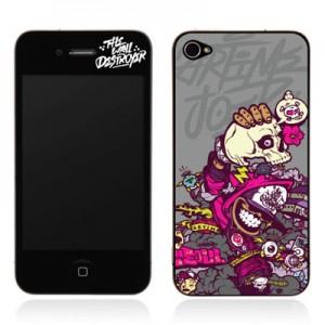 스킨플레이어 Design Jacket iPhone 4G JNJ Crew 스켈렉톤 디자인 필름
