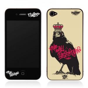 스킨플레이어 Design Jacket iPhone 4G JNJ Crew 블랙버드 디자인 필름