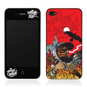 스킨플레이어 Design Jacket iPhone 4G JNJ Crew 불타는하회탈 디자인 필름