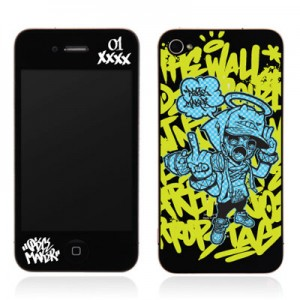 스킨플레이어 Design Jacket iPhone 4G JNJ Crew 피스메이커 디자인 필름