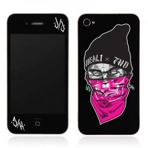 스킨플레이어 Design Jacket iPhone 4G JNJ Crew 마스크 디자인 필름