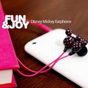 디즈니 미키 이어폰 M Series/DOT Style/커널형/메가베이스