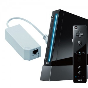 [SET] 닌텐도 wii 본체(블랙) + Wii 전용 LAN 어댑터