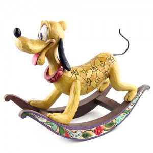 [Disney]플루토: Faithful Friend-Rocking Horse Pluto Figurine (4016584)