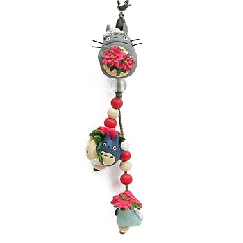 꽃 핸드폰줄(포인세티아) - 이웃집 토토로