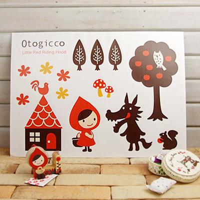 Decole otogicco 빨간망토 월스티커