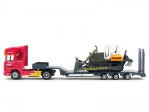 1/64 SCANIA FLATBED TRAILER with BULLDOZER (RB070155RE)