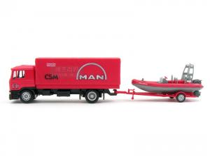 1/64 MAN CANVAS TRUCK with FIRE BOAT (RB070186RE)