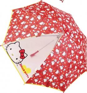 키티 투명창 장우산