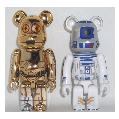 Star Wars C3PO and R2D2 100% Bearbrick Set