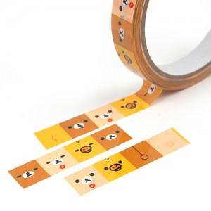 리락쿠마 디자인 테이프- 심플