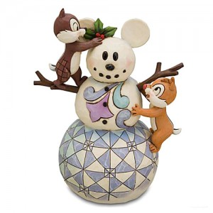 [Disney]칩앤데일: Snowman with Chip and Dale Figurine(4016569)