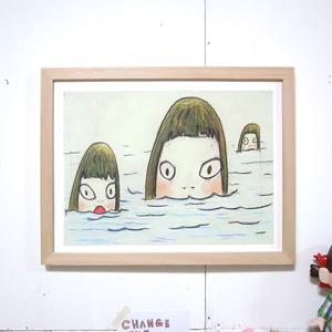 요시토모 나라 Three Girls in the See 액자