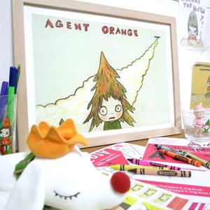 요시토모 나라 Agent Orange-02 액자