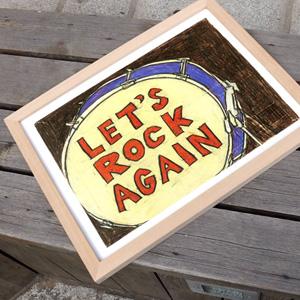 요시토모 나라 Let's Rock Again 액자