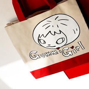 요시토모 나라 Gummie Girl 캔버스백 (Red)
