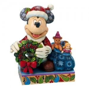 [Disney]산타 미키마우스: Mickey Dressed as Santa Holding a Wreath