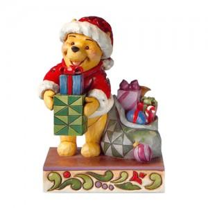 [Disney] 산타 푸우: Winnie the Pooh Dressed as Santa Holding a Present