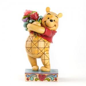 [Disney] 푸우: Pooh with Flowers Figurine