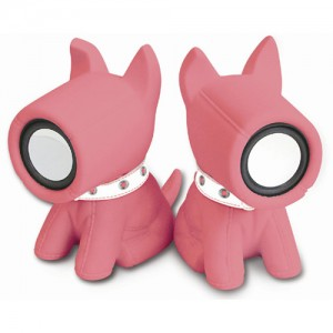 썸크_S.Dog스테레오스피커-핑크(USB)