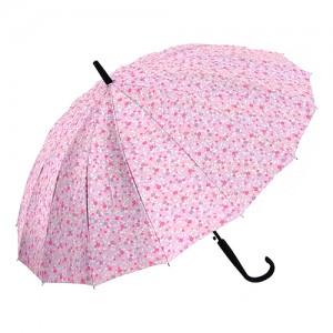 잔무늬 플라워 무늬 장우산-핑크
