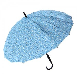 잔무늬 플라워 무늬 장우산-블루