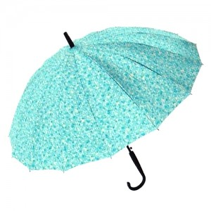잔무늬 플라워 무늬 장우산-민트
