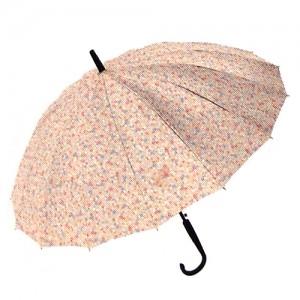 잔무늬 플라워 무늬 장우산-살구