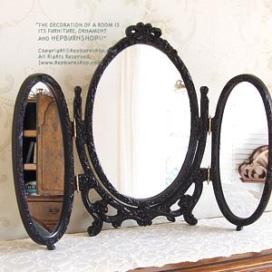 15%특가세일~ 프린세스 거울 (블랙삼면경)