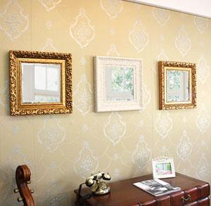 재입고~ 테라 사각 벽거울 (화이트,골드)