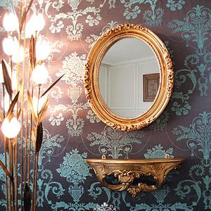 로즈 소피아 거울 선반 세트