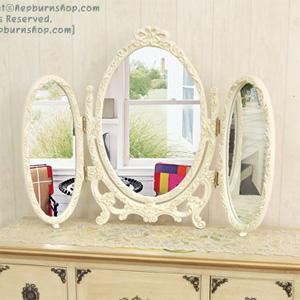 프린세스 거울 (아이보리,골드)