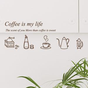 그래픽스티커 세트~ 오픈앤클로즈03+커피라이프(SP)