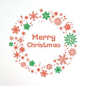 그래픽스티커~ 크리스마스 리스2(SP)