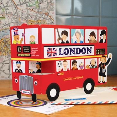 런던 이층버스 그리팅카드