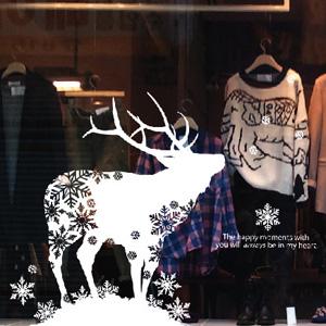 그래픽스티커~ 눈과사슴(G)