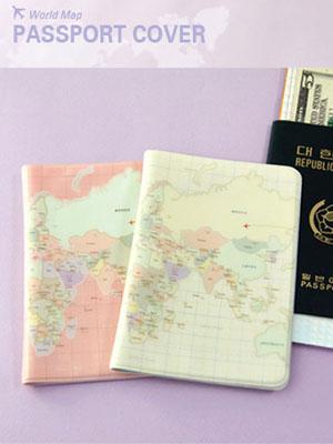 [H] 세계지도 여권커버
