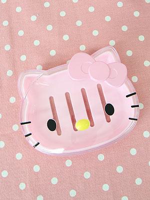 [Hello Kitty] 클리어 커버 비누 케이스