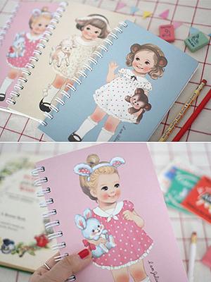 [H] Paper doll mate 스프링 노트