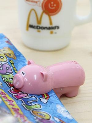 Piggy 미니 비닐 팩 클립