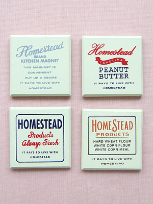 Homestead 우드 마그네틱 4p set