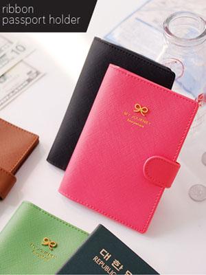 [H] ribbon passport holder
