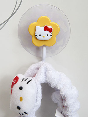 [Hello Kitty] 옐로우 플라워 다용도 흡착걸이