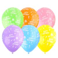 30cm 생일파스텔혼합-100개입/풍선 전문몰 >무늬풍선