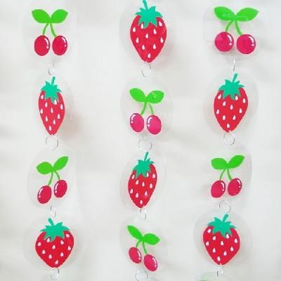 장식발/딸기+앵두/환경구성재료