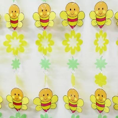 장식발/꿀벌과꽃/환경구성재료